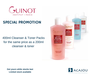 SPECIAL PROMOTION, Guinot cleanser, toner, packs, Acajou,